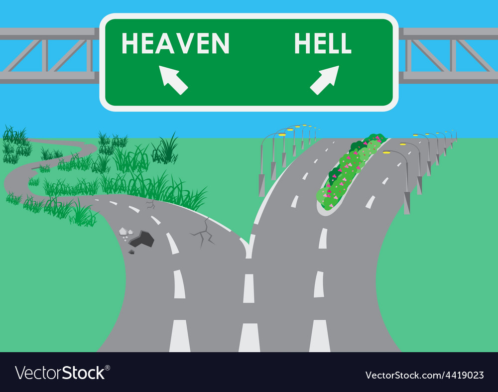 The road to hell is paved vector | Price: 1 Credit (USD $1)