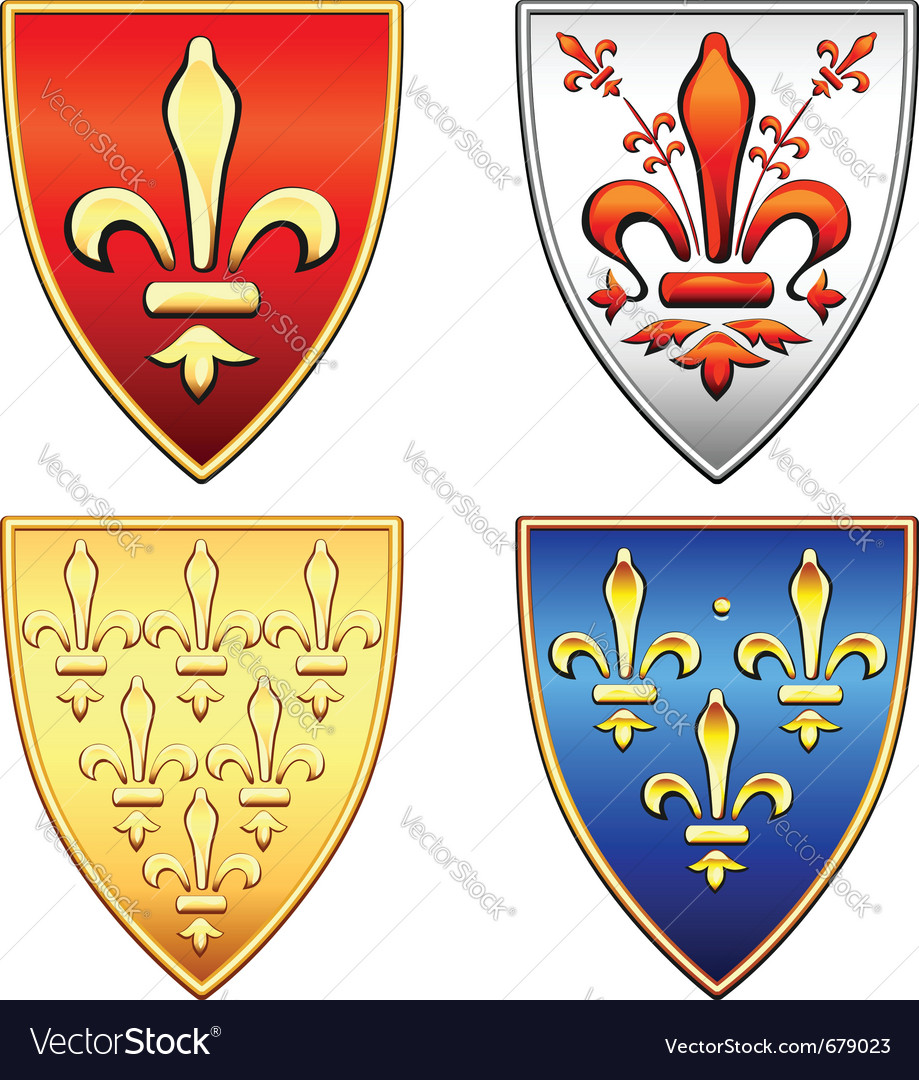 Traditional old shields vector | Price: 1 Credit (USD $1)
