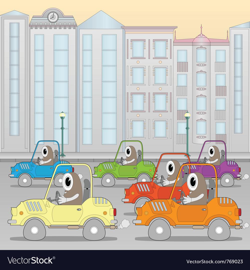 Traffic jam vector | Price: 3 Credit (USD $3)