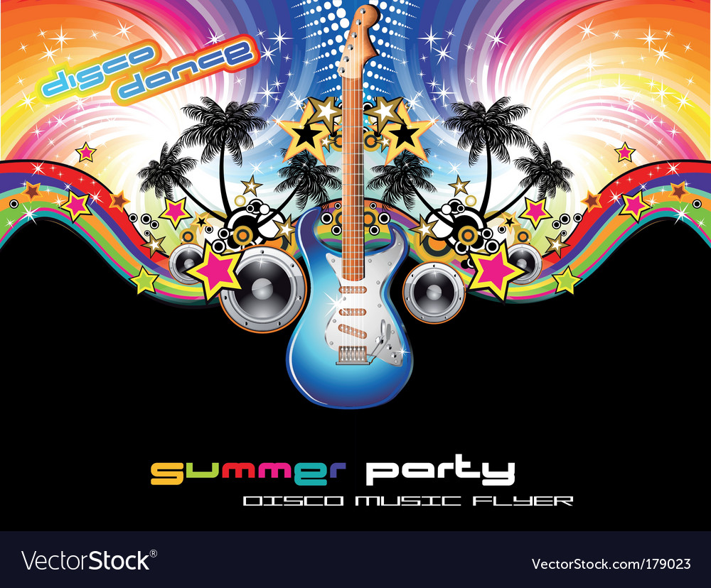 Tropical music event flyer vector | Price: 3 Credit (USD $3)