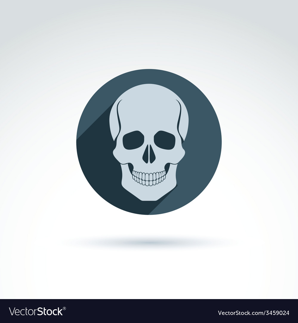 A human skull in a circle dead head abst vector | Price: 1 Credit (USD $1)