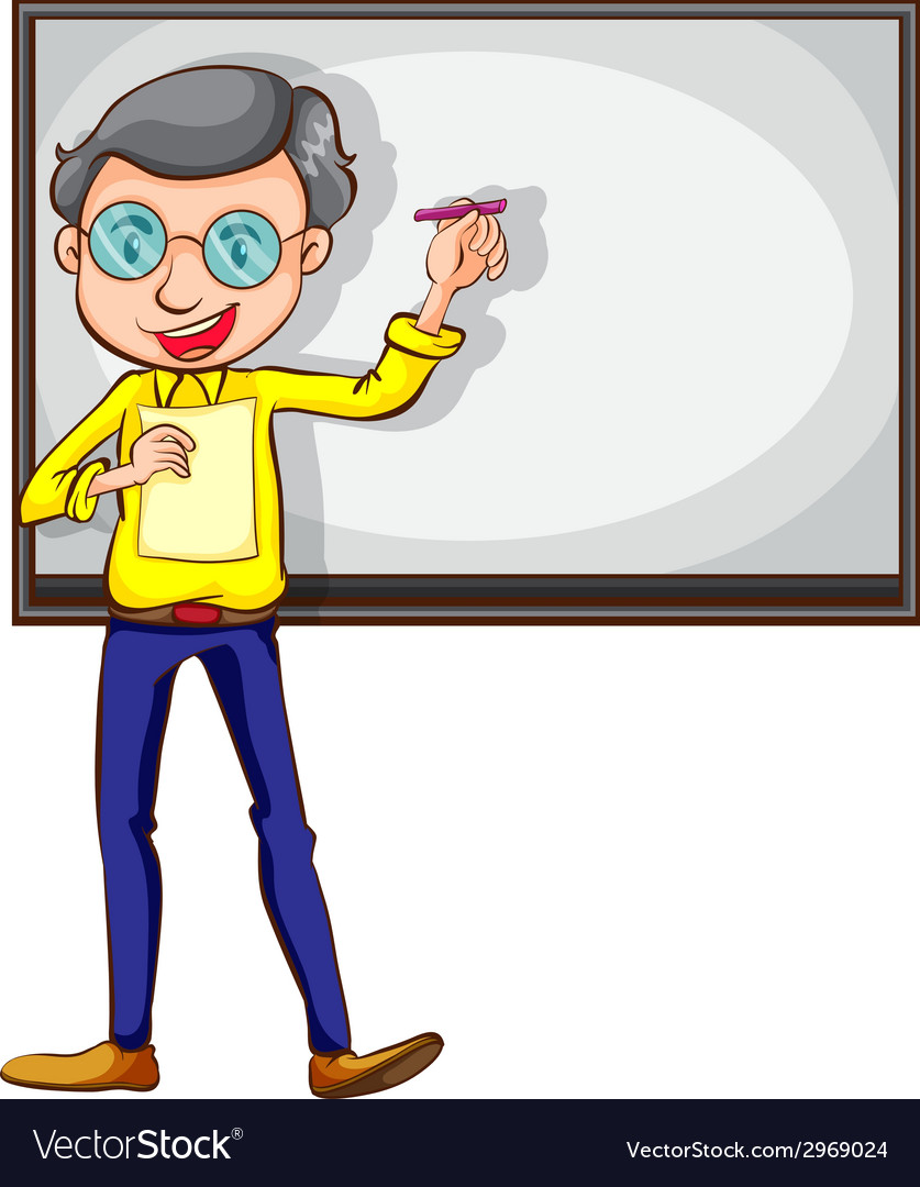 A simple sketch of a teacher vector | Price: 1 Credit (USD $1)