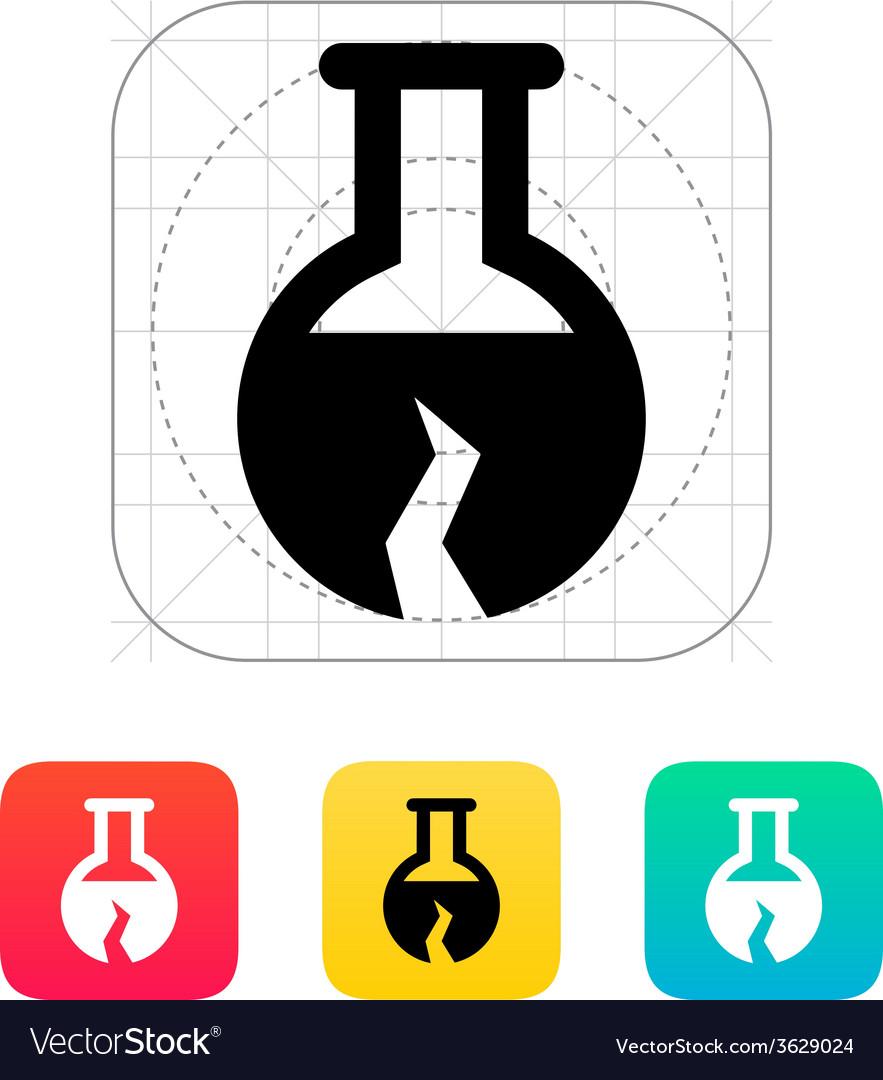 Broken florence bulb icon vector   Price: 1 Credit (USD $1)