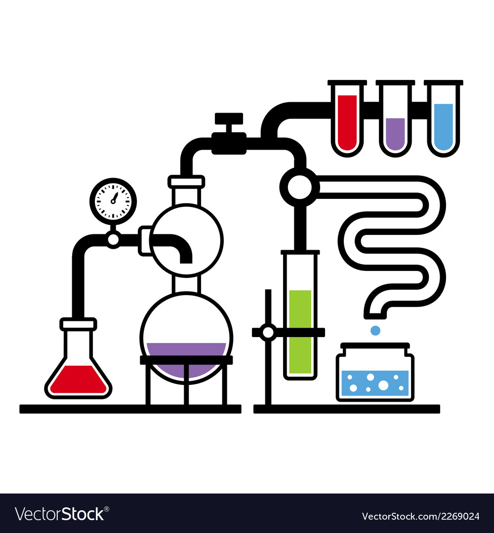 Chemistry laboratory infographic set 3 vector | Price: 1 Credit (USD $1)