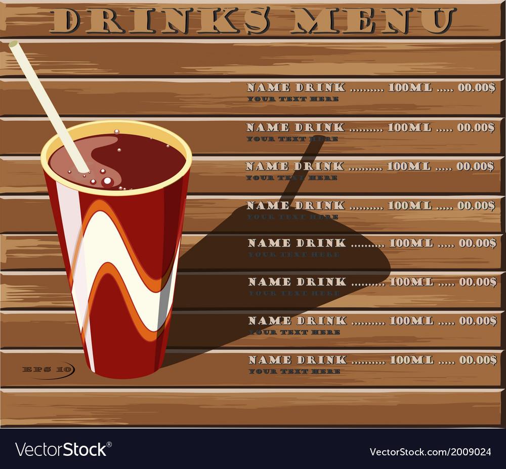 Drinks menu vector   Price: 1 Credit (USD $1)