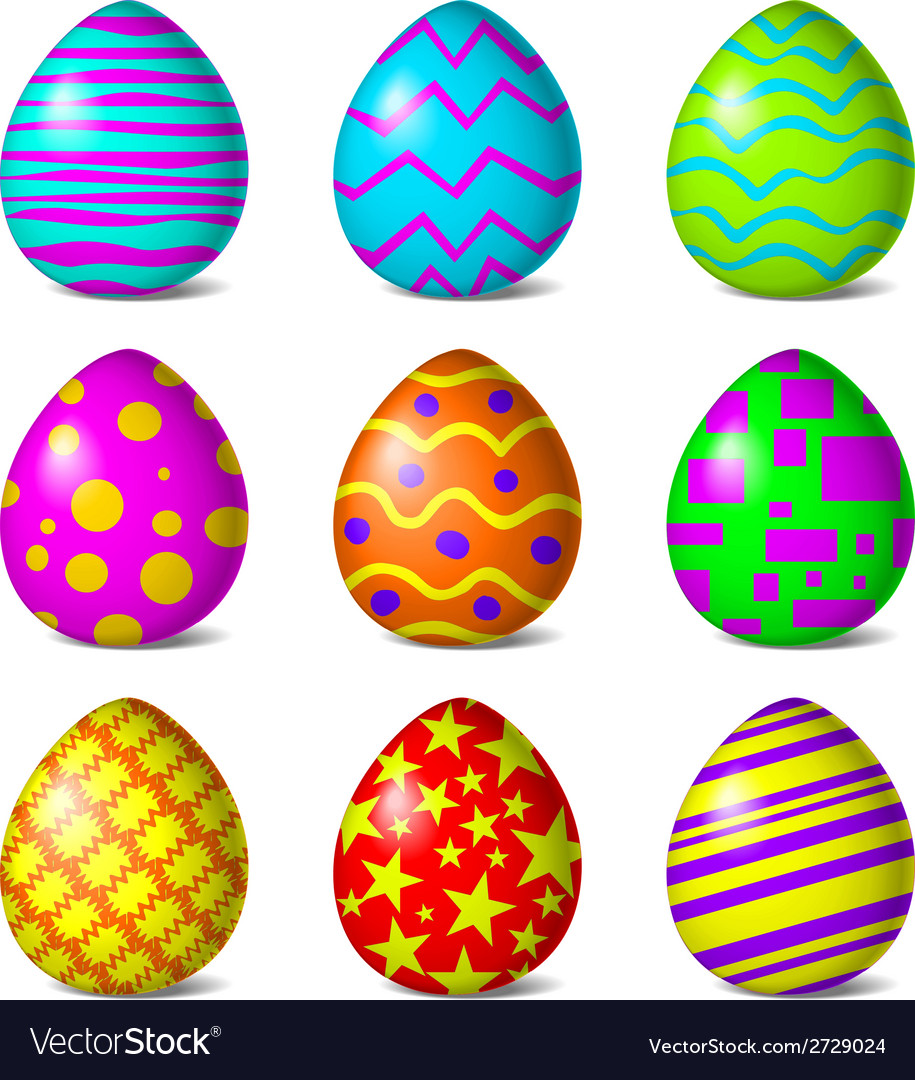 Easter color pattern vector | Price: 1 Credit (USD $1)