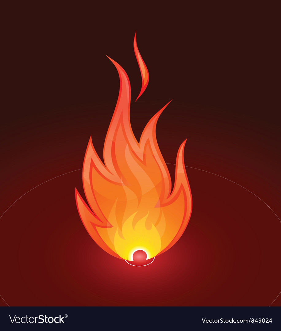 Fire flame vector | Price: 1 Credit (USD $1)