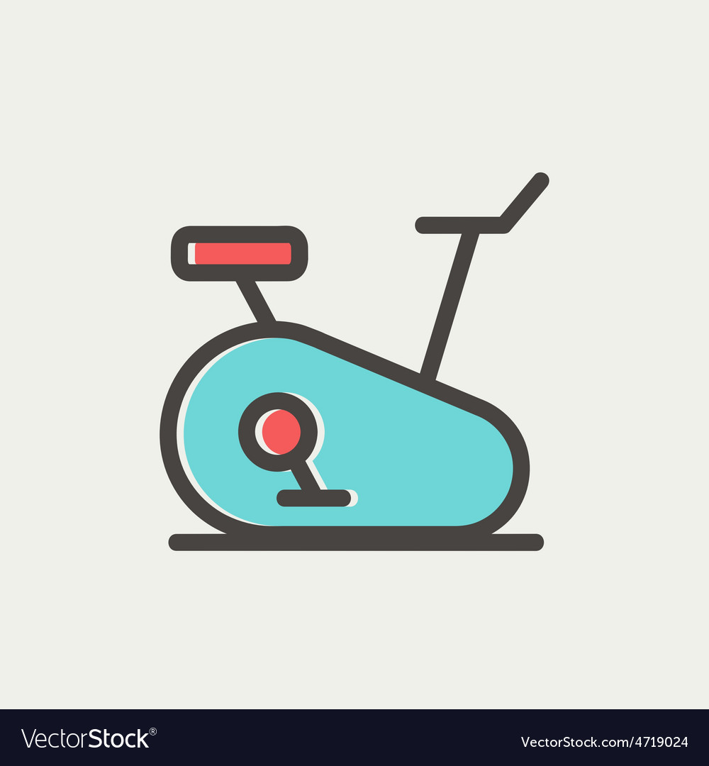 Fitness cycling thin line icon vector | Price: 1 Credit (USD $1)