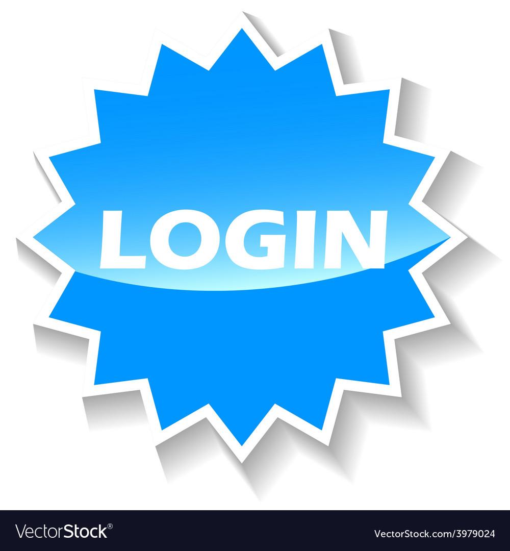 Login blue icon vector | Price: 1 Credit (USD $1)