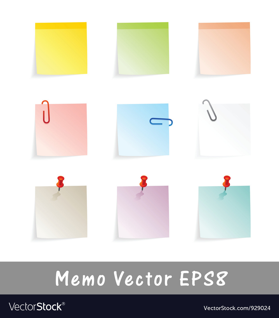 Memo vector | Price: 1 Credit (USD $1)