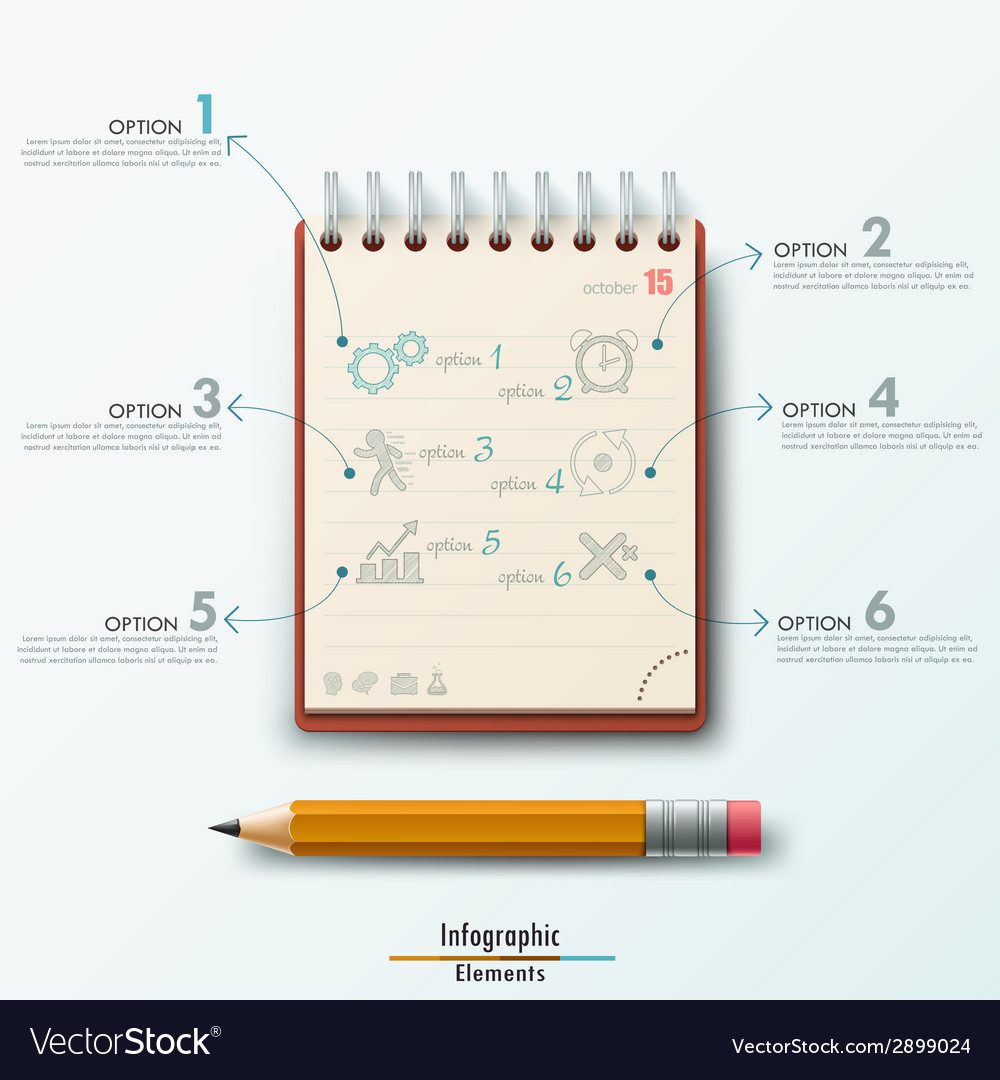 Modern infographic template vector | Price: 1 Credit (USD $1)