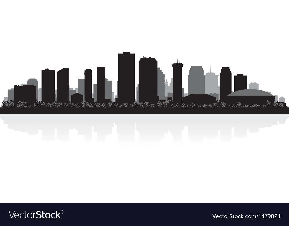 New orleans usa city skyline silhouette vector | Price: 1 Credit (USD $1)