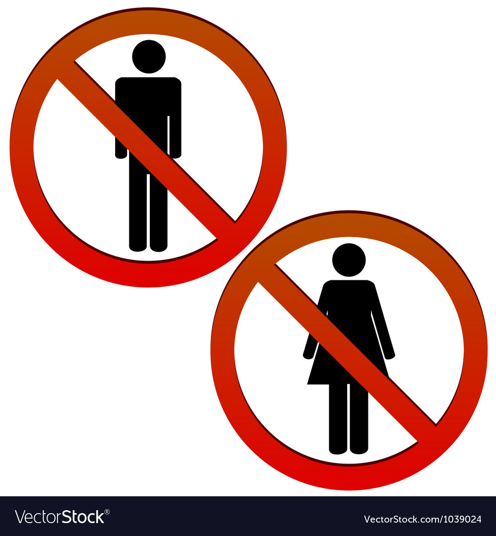 No man and no woman vector | Price: 1 Credit (USD $1)