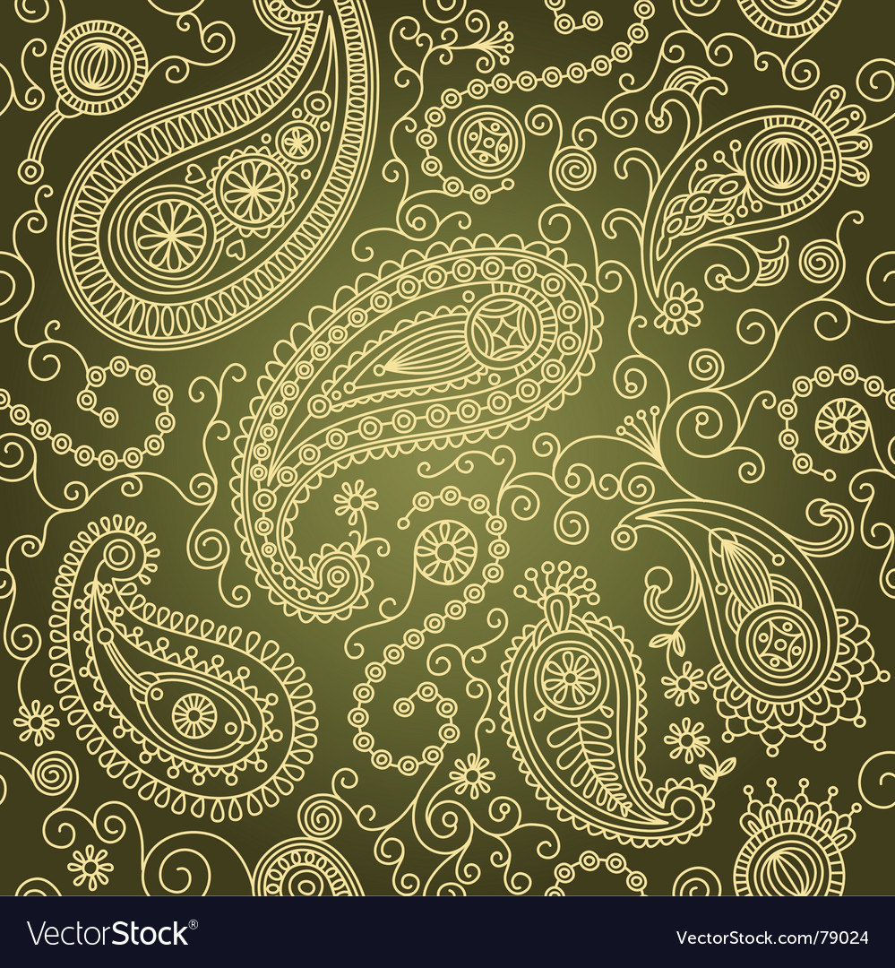 Paisley seamless vector | Price: 1 Credit (USD $1)