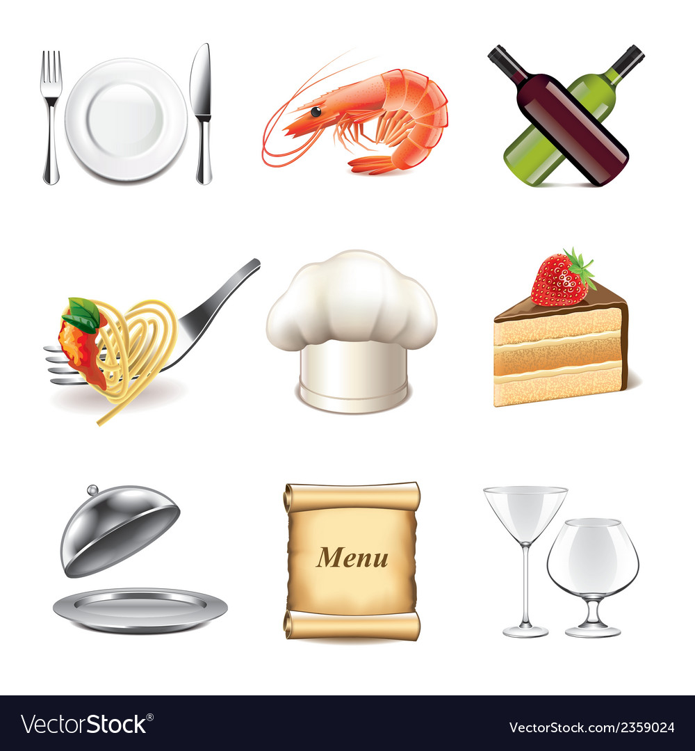 Set restaurant vector | Price: 3 Credit (USD $3)