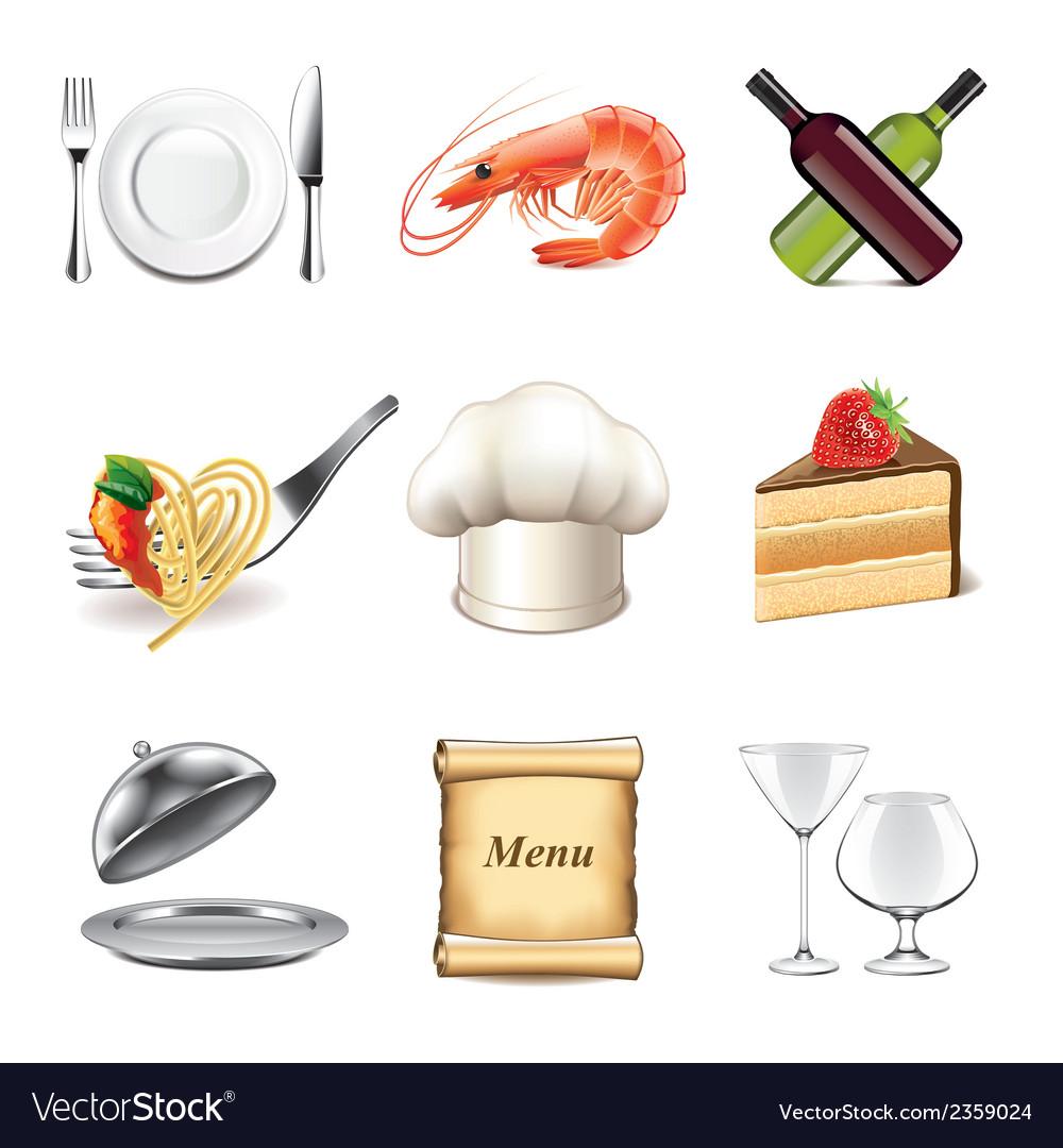 Set restaurant vector   Price: 3 Credit (USD $3)