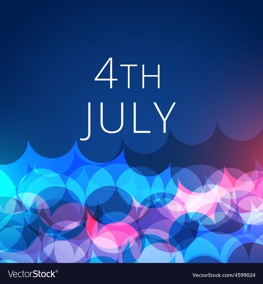 Stylish 4th of july background vector   Price: 1 Credit (USD $1)