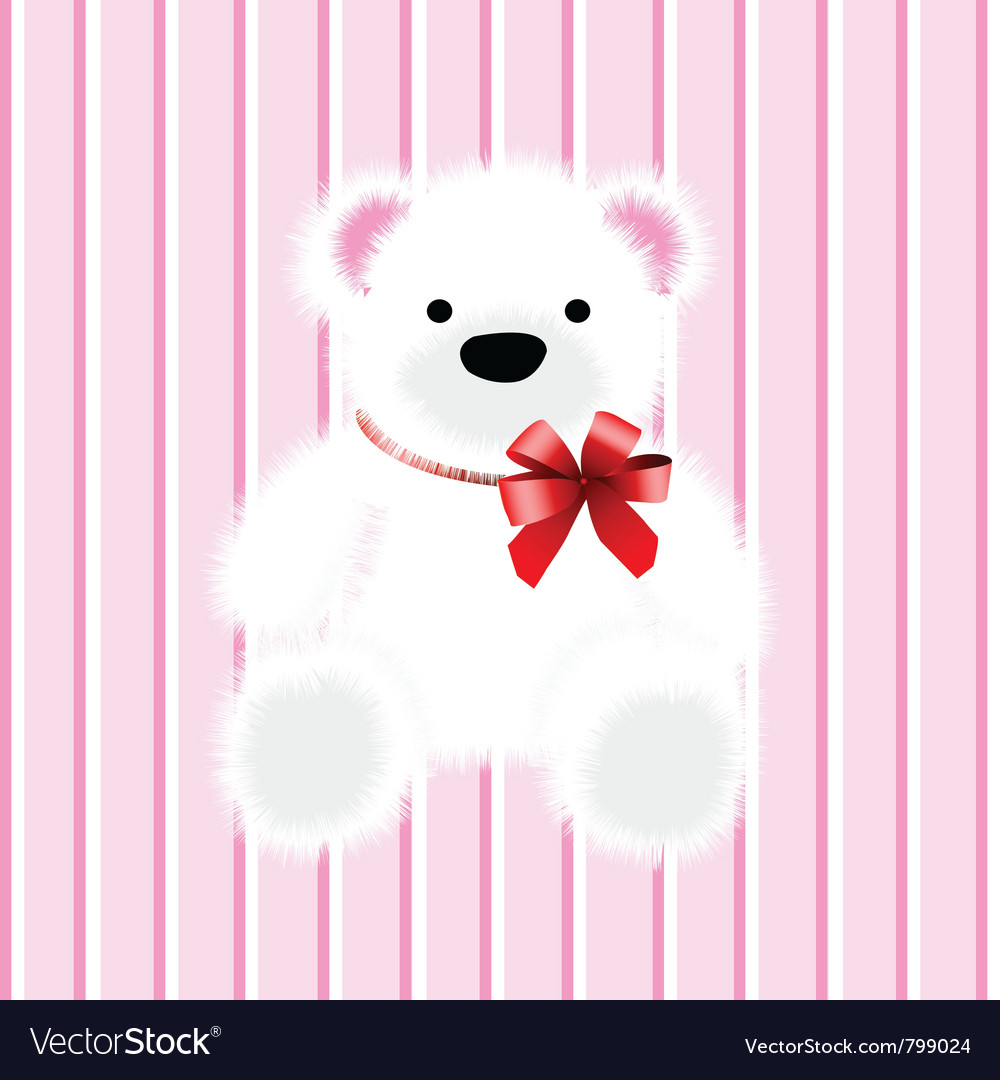 Teddy bear toy vector | Price: 1 Credit (USD $1)