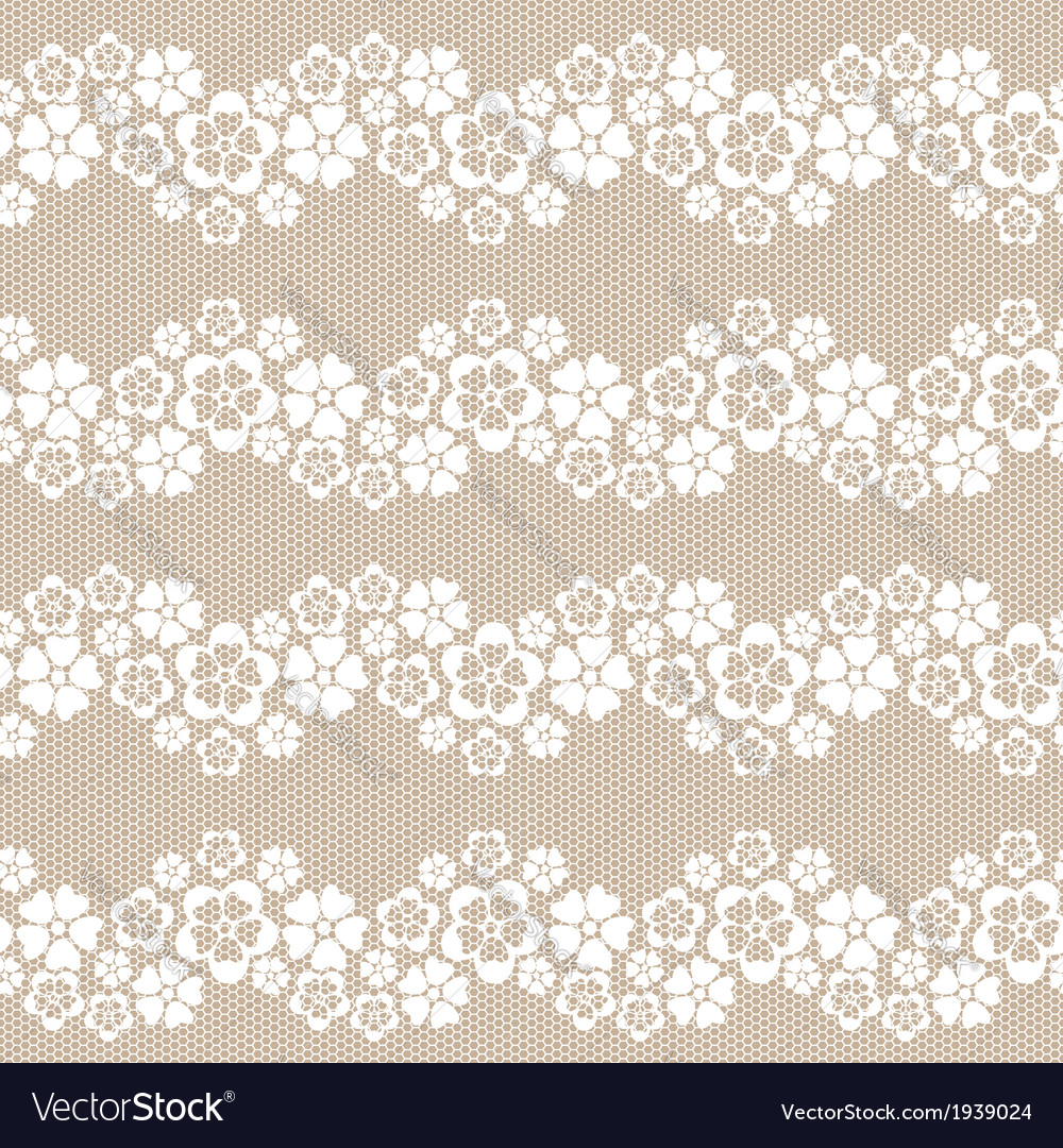 White flower lace background vector | Price: 1 Credit (USD $1)
