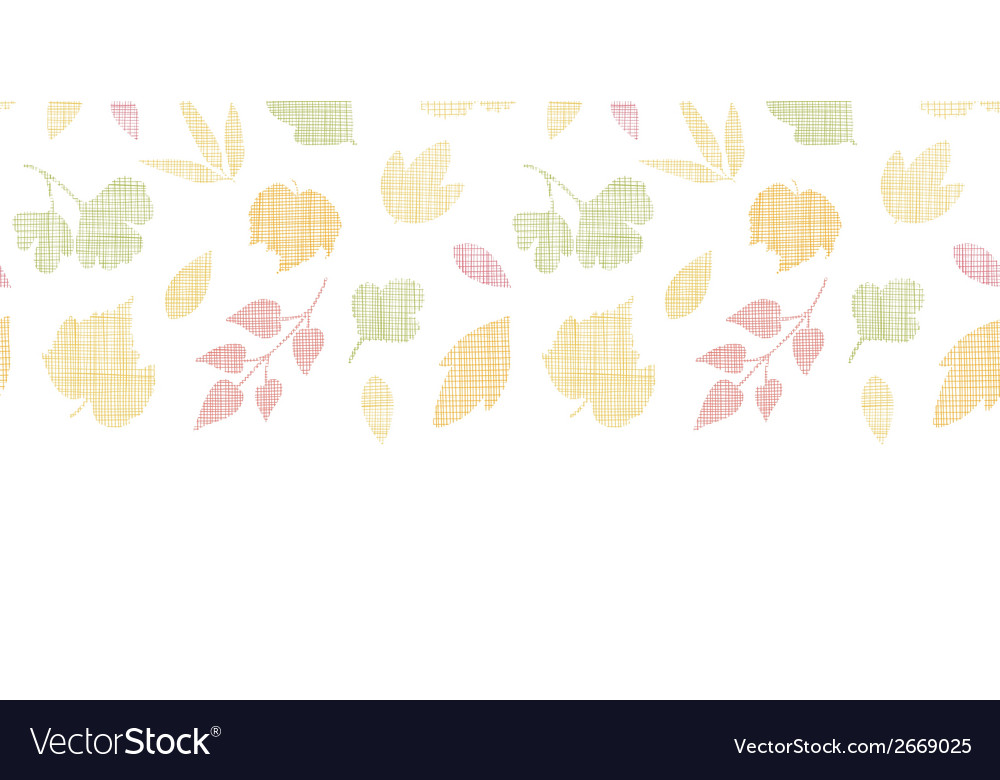 Abstract textile texture fall leaves horizontal vector | Price: 1 Credit (USD $1)