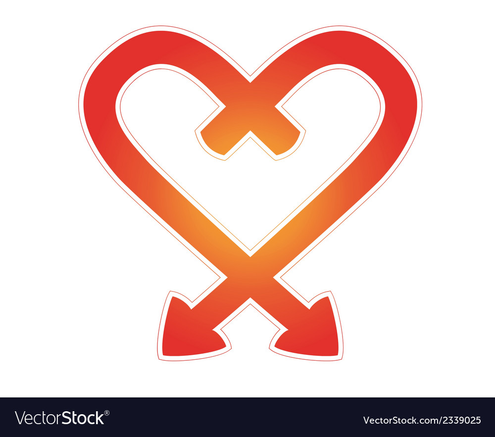 Arrows heart vector | Price: 1 Credit (USD $1)