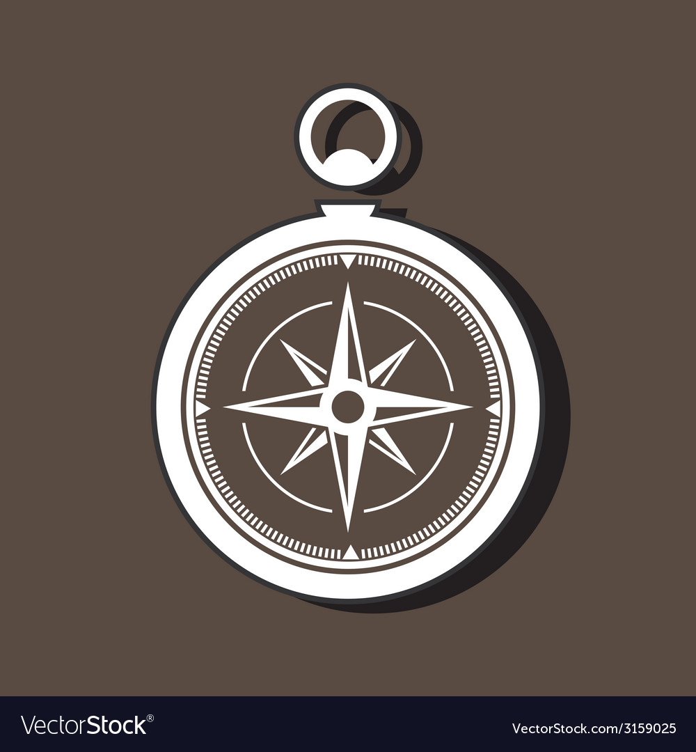 Compass icon on dark vector | Price: 1 Credit (USD $1)