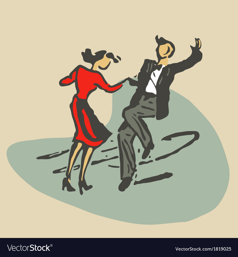 Couple dancing rocknroll vector | Price: 1 Credit (USD $1)