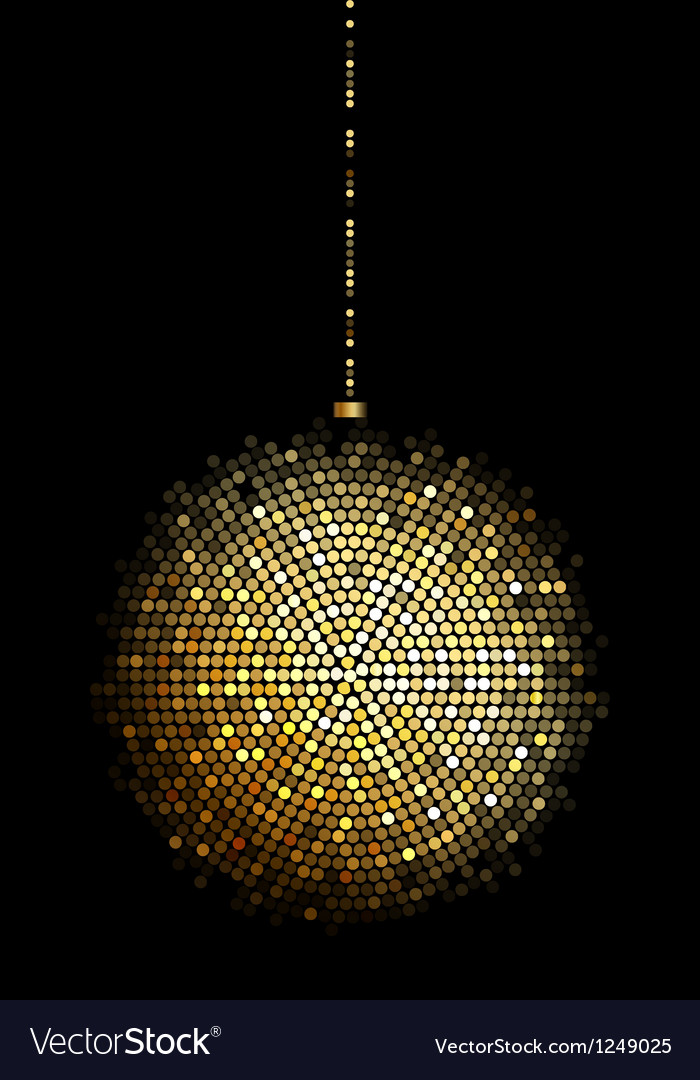 Gold disco ball lights vector | Price: 1 Credit (USD $1)