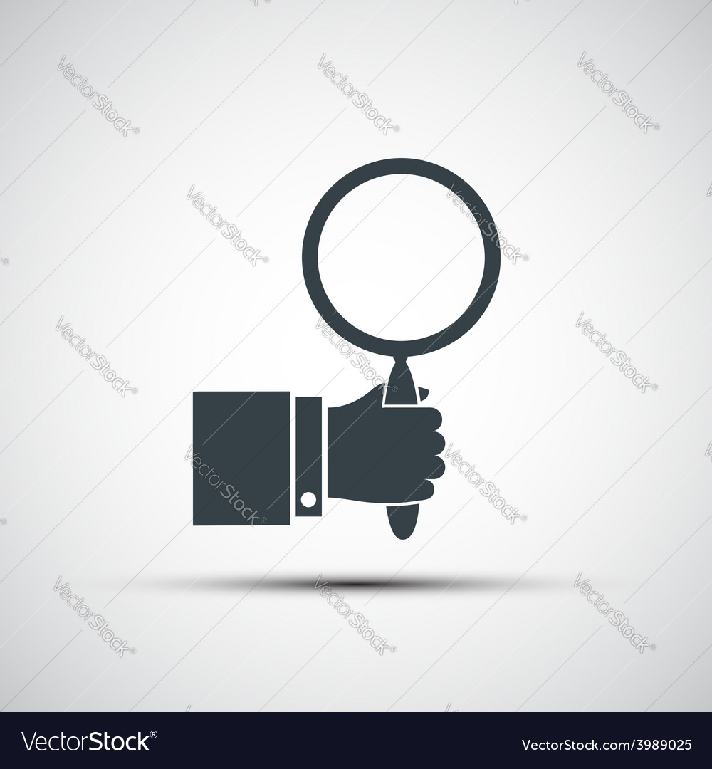 Icon of human hands and magnifiers vector | Price: 1 Credit (USD $1)