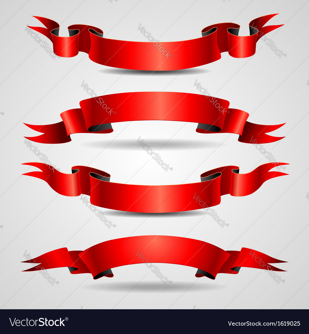 Retro ribbons red vector | Price: 1 Credit (USD $1)
