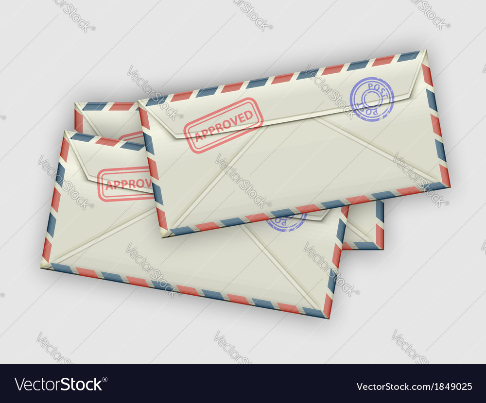 Stack of envelopes vector | Price: 1 Credit (USD $1)