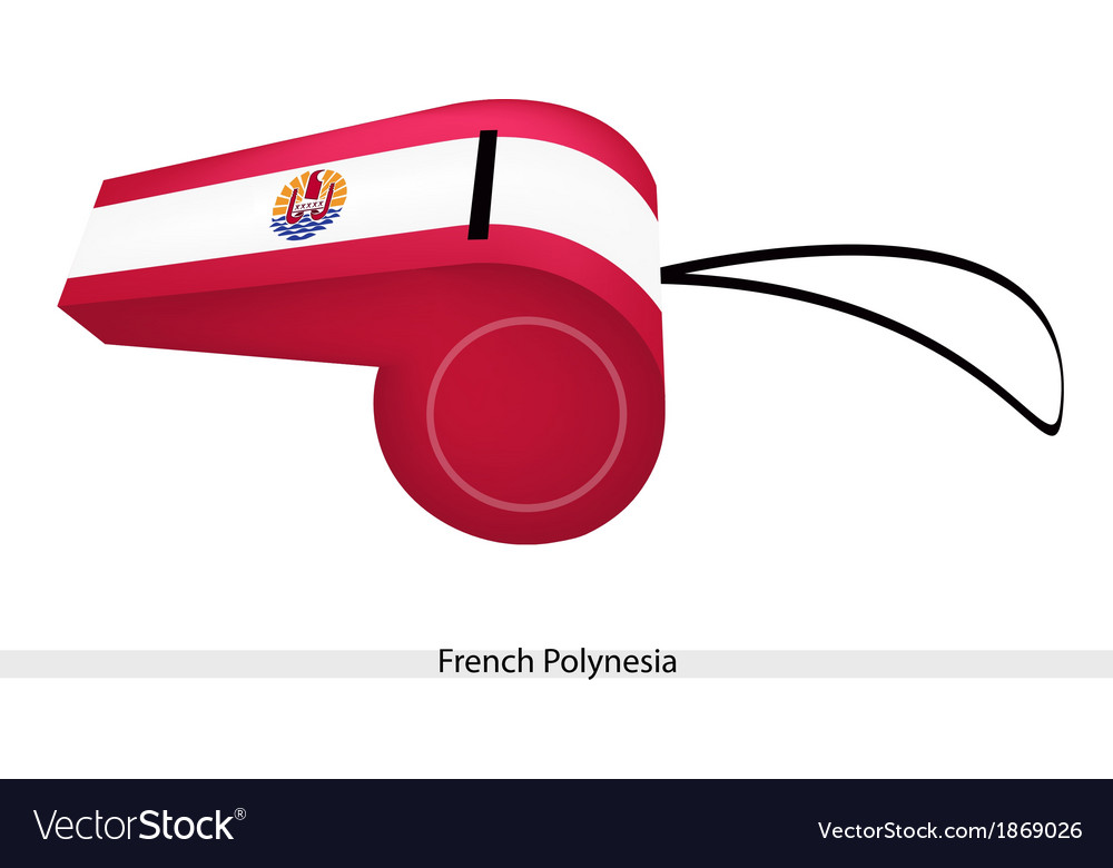 A red and white whistle of french polynesia vector | Price: 1 Credit (USD $1)