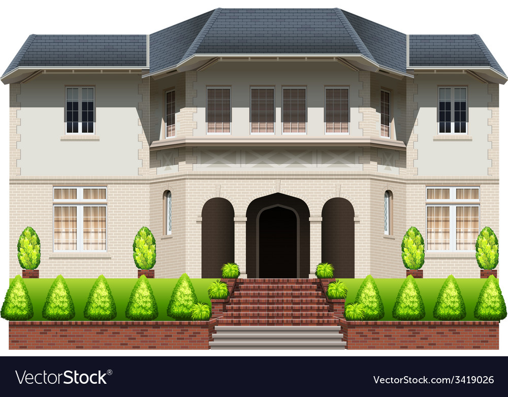 An old mansion vector | Price: 3 Credit (USD $3)