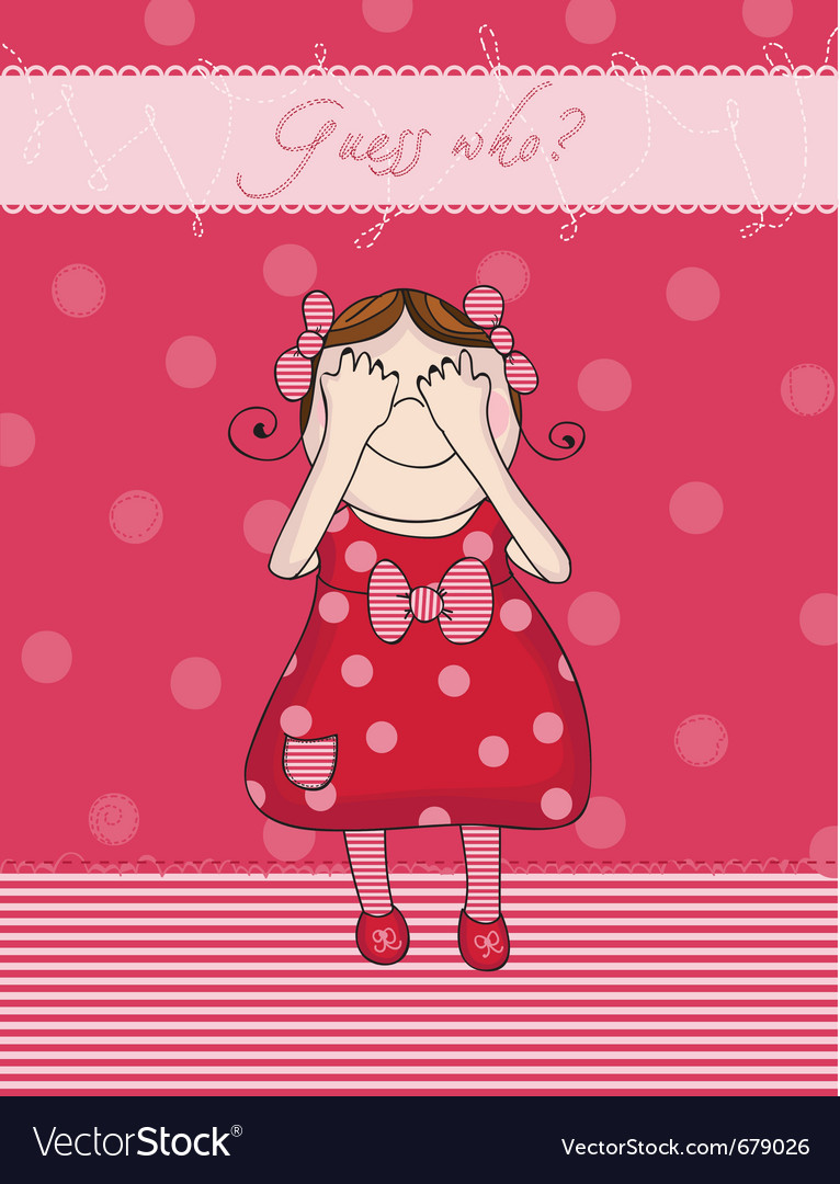 Birthday girl card vector | Price: 1 Credit (USD $1)
