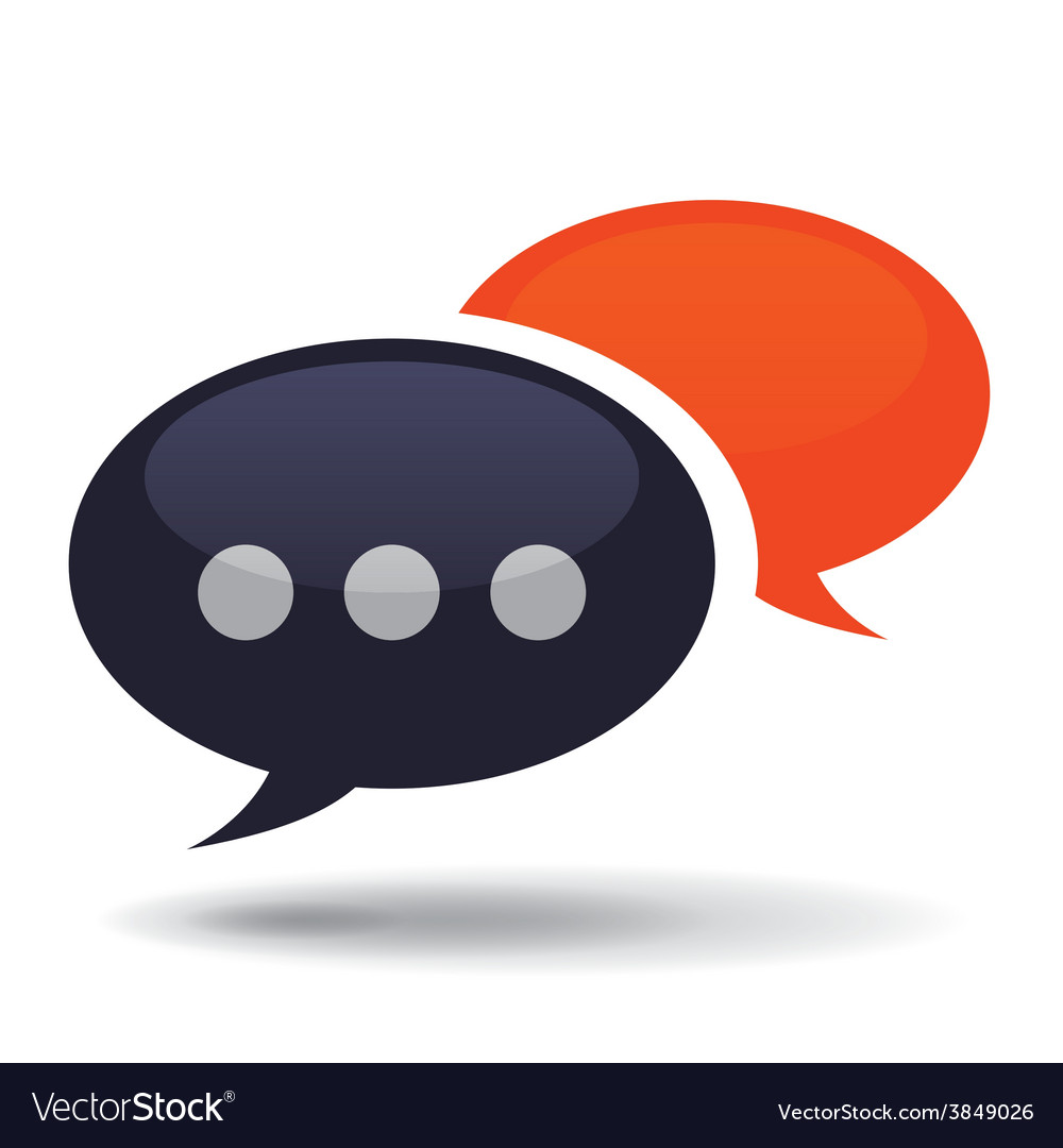 Chat icon vector   Price: 1 Credit (USD $1)