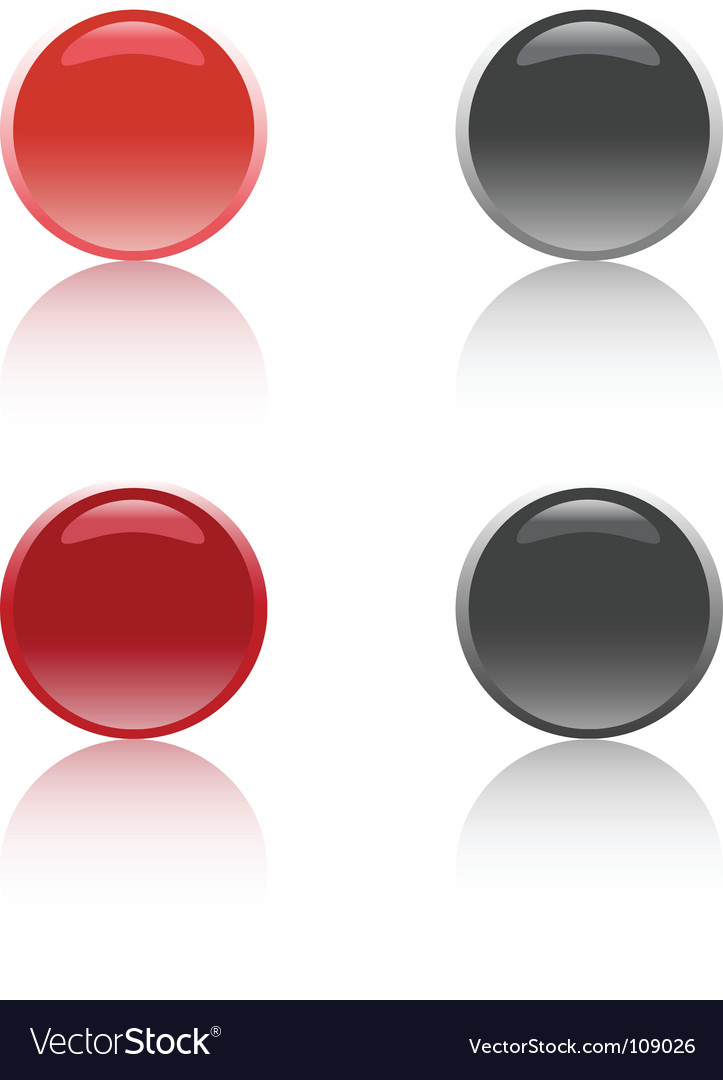 Glossy buttons vector | Price: 1 Credit (USD $1)