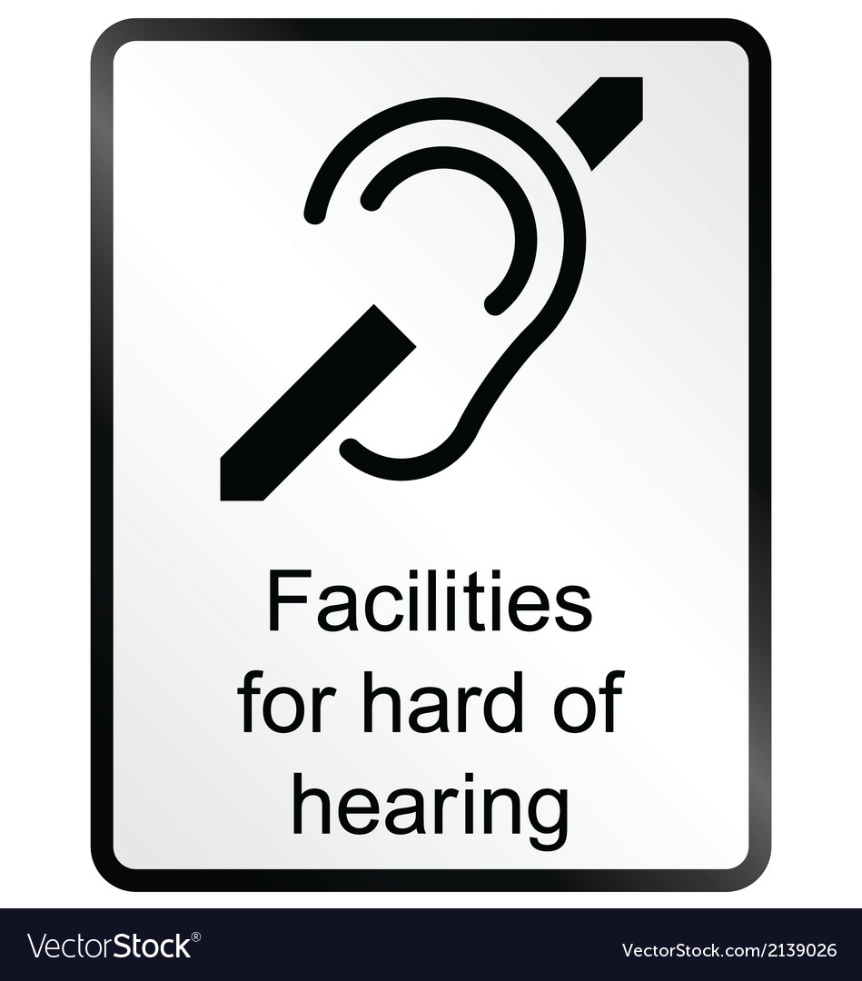 Hard of hearing information sign vector | Price: 1 Credit (USD $1)