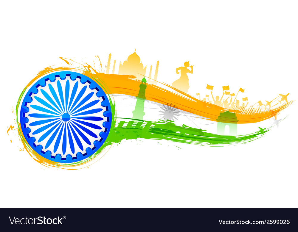 India background with monument vector | Price: 1 Credit (USD $1)
