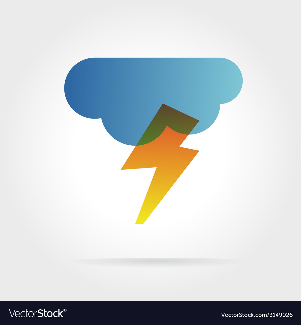 Lightning icon with cloud concept for design vector | Price: 1 Credit (USD $1)