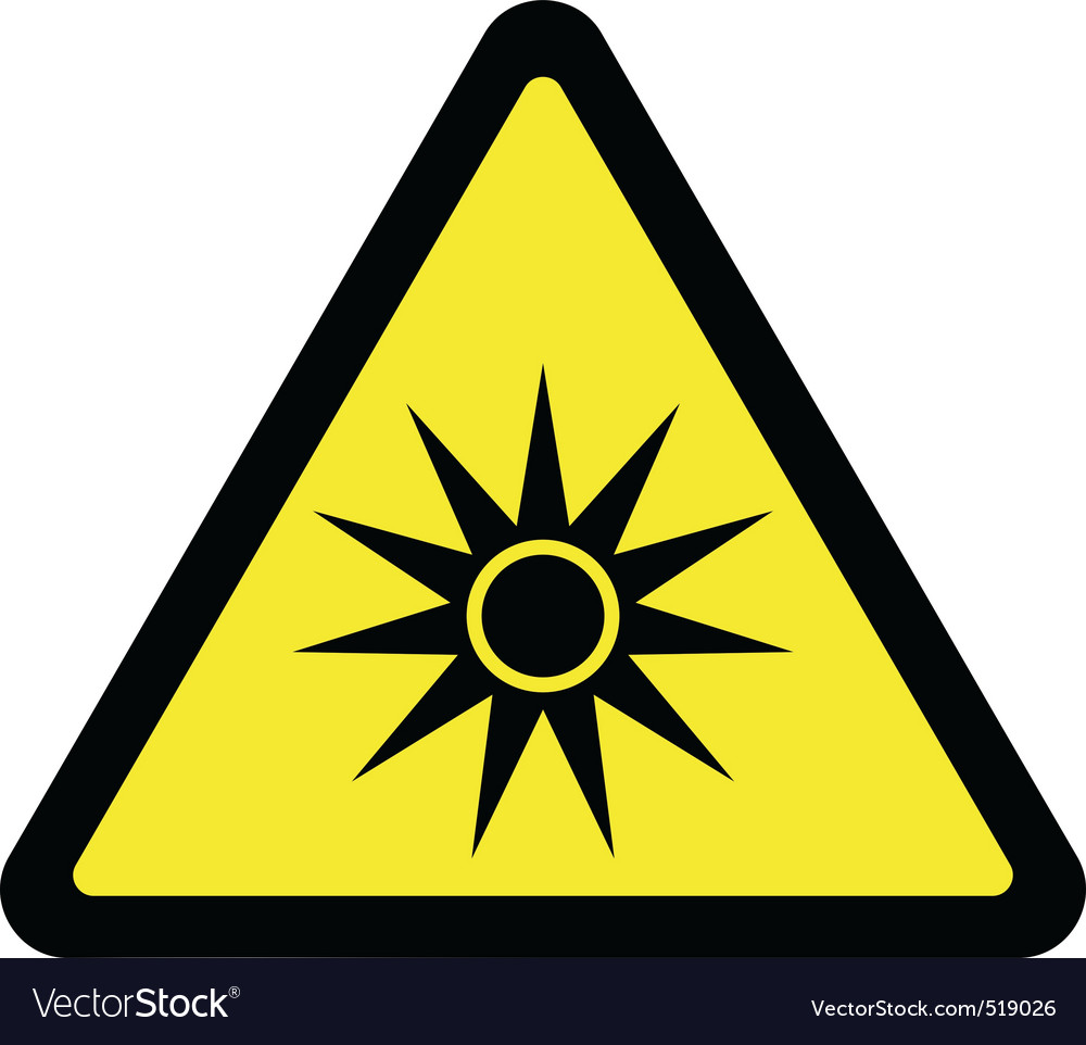 Optical radiation warning sign vector | Price: 1 Credit (USD $1)