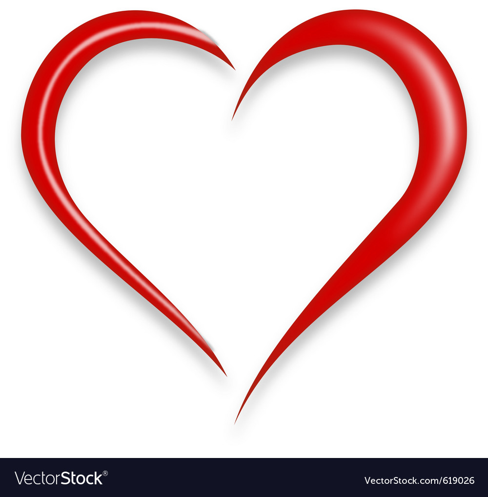 Red love heart vector