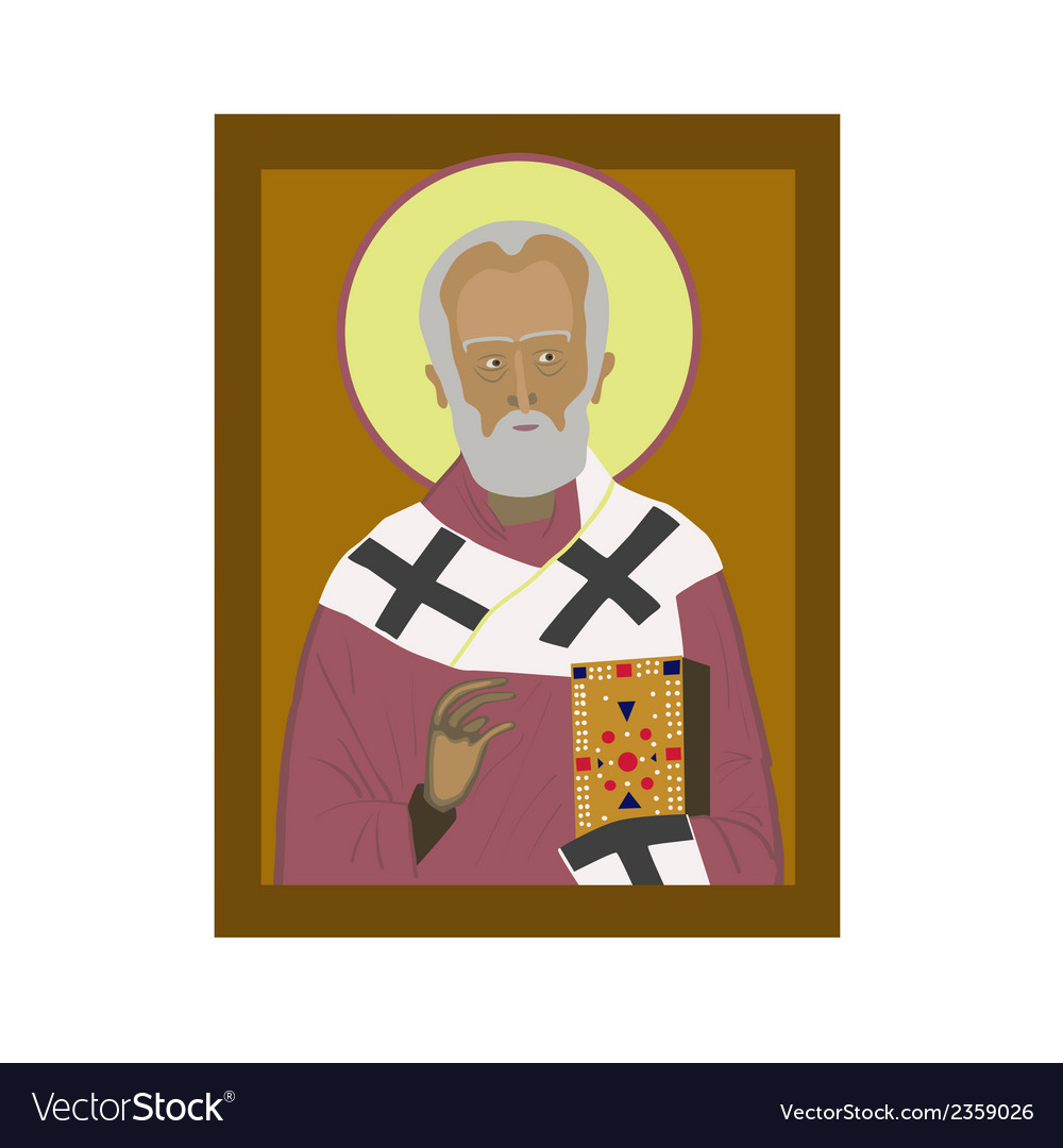 Saint nicholas vector | Price: 1 Credit (USD $1)