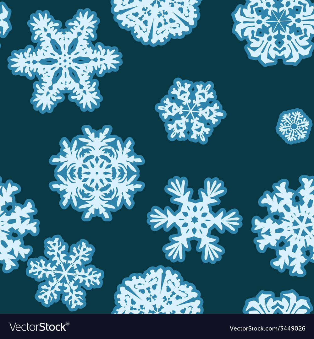 Snowflakes winter seamless texture endless pattern vector | Price: 1 Credit (USD $1)