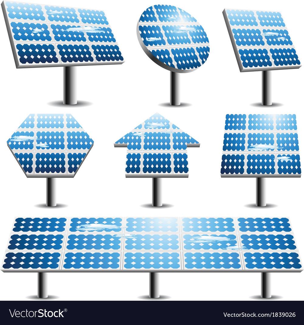 Solar panels vector | Price: 1 Credit (USD $1)