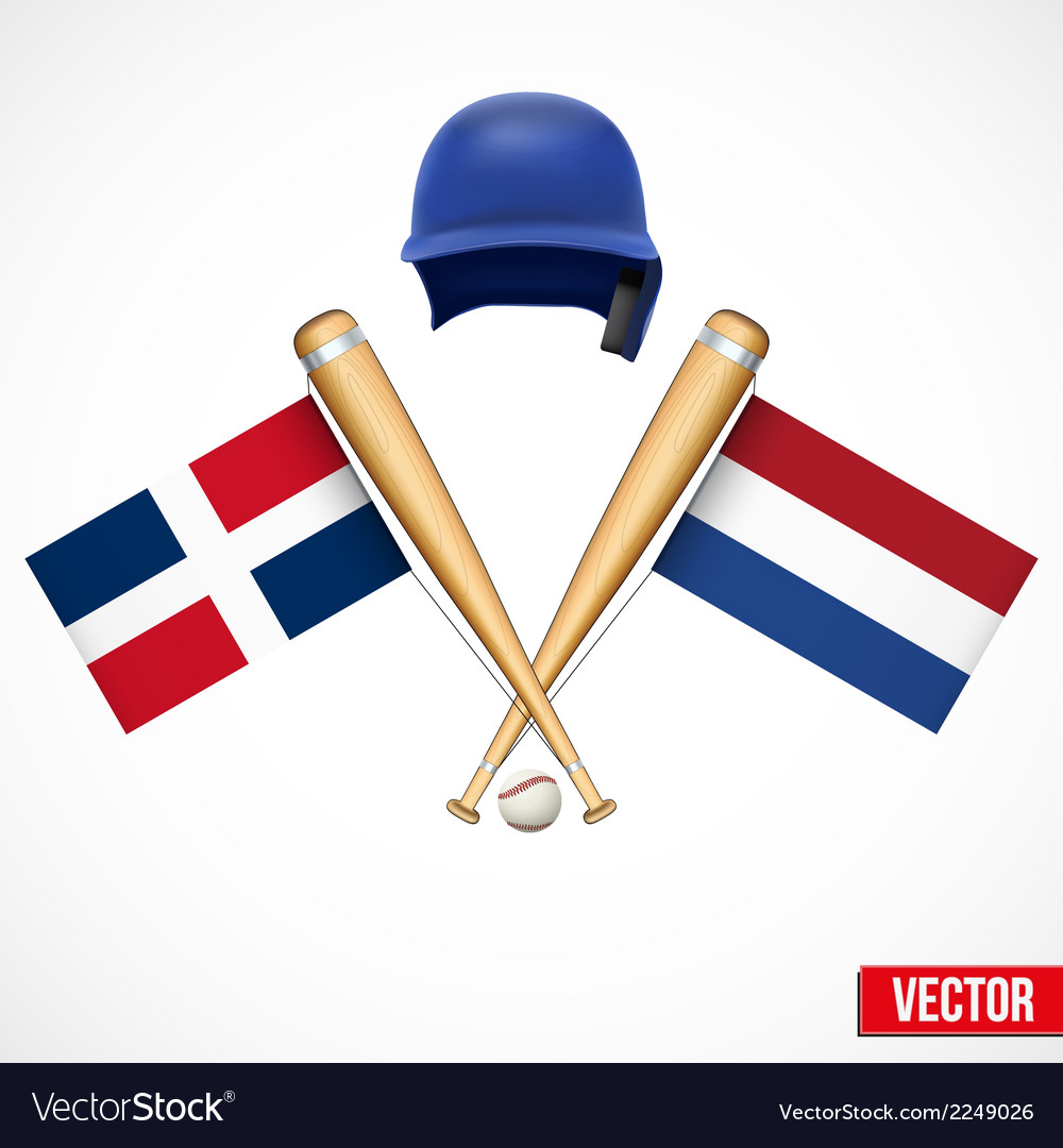 Symbols of baseball team dominican republic and vector | Price: 1 Credit (USD $1)