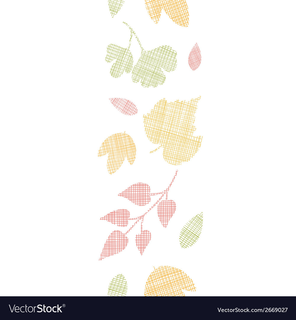 Abstract textile texture fall leaves vertical vector | Price: 1 Credit (USD $1)
