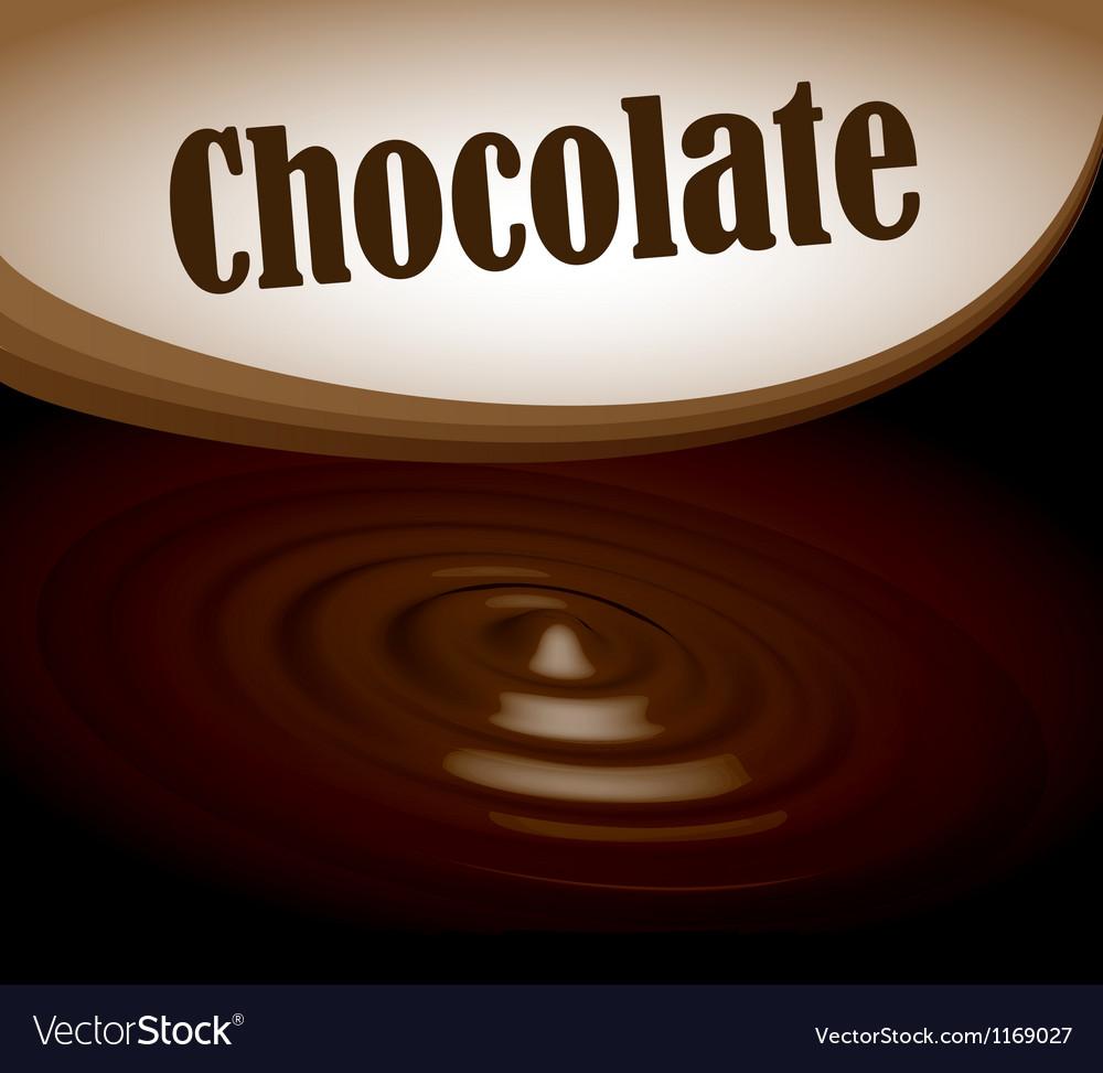 Chocolate splash text frame vector | Price: 1 Credit (USD $1)