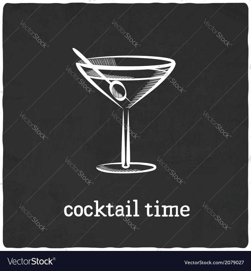 Cocktail black old background vector | Price: 1 Credit (USD $1)