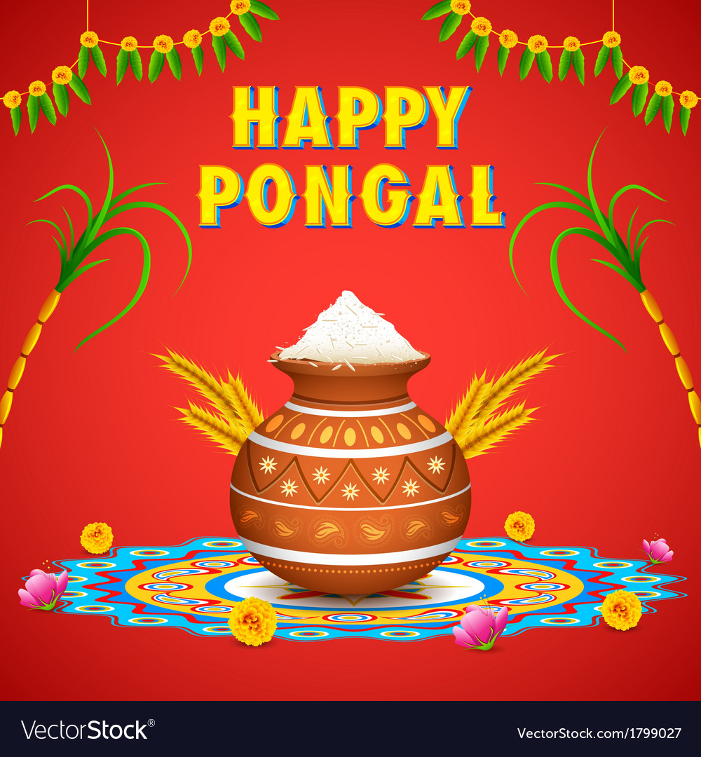 Happy pongal vector | Price: 1 Credit (USD $1)