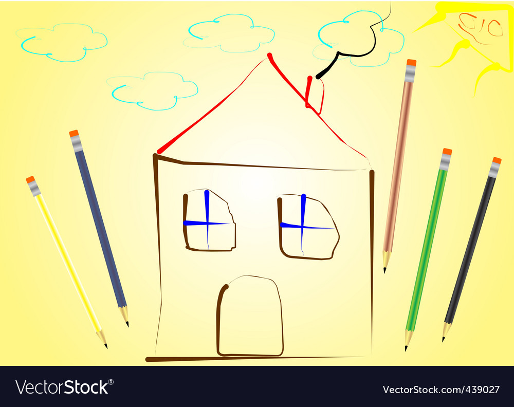 House drawing vector | Price: 1 Credit (USD $1)